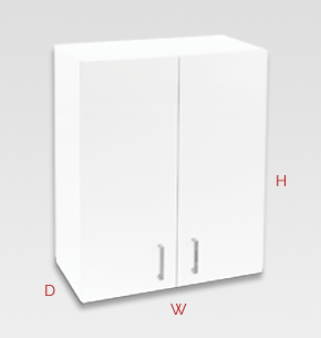 600mm white office cupboard - wall specs and instructions
