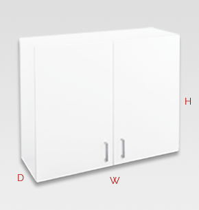 900mm white office cupboard - wall specs and instructions